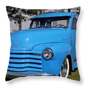 Baby Blue Chevy From 1950 Throw Pillow
