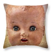 Baby Doll Face Throw Pillow