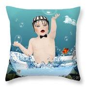Baby Fun Time Throw Pillow