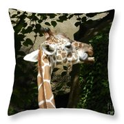 Baby Giraffe 2 Throw Pillow