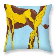 Baby Giraffe Nursery Art Throw Pillow