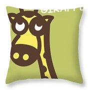 Baby Giraffe Nursery Wall Art Throw Pillow by Nursery Art