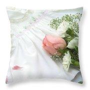 Baby Girl Dress Throw Pillow