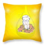 Baby In Teardrop 2 Throw Pillow