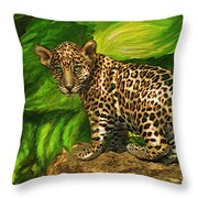 Baby Jaguar Throw Pillow