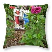Baby Jesus In Garden Throw Pillow