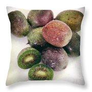Baby Kiwi Distressed Throw Pillow