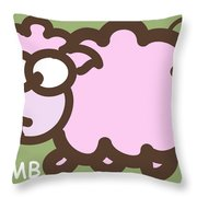 Baby Lamb Nursery Art Throw Pillow by Nursery Art
