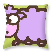 Baby Lamb Nursery Print Throw Pillow by Nursery Art