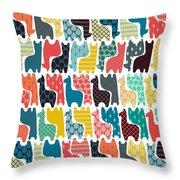Baby Llamas Throw Pillow