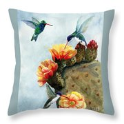 Baby Makes Three Throw Pillow by Marilyn Smith