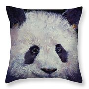 Baby Panda Throw Pillow by Michael Creese