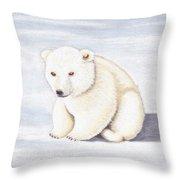 Baby Polar Bear Throw Pillow
