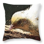 Baby Quail In Pastel Throw Pillow