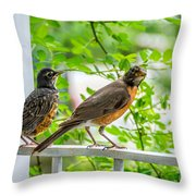 Baby Robin - Ready...just Do What I Do Throw Pillow