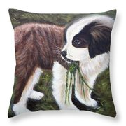 Baby-senbernar Throw Pillow