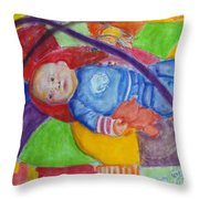 Baby Ted In Motion Portrait  Throw Pillow