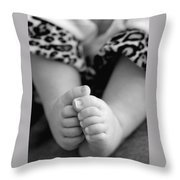 Baby Toes Throw Pillow by Lisa Phillips