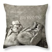 Baby's First Shoes Throw Pillow