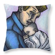 Baby's Lullaby Throw Pillow