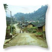 Bac Ha Town Throw Pillow