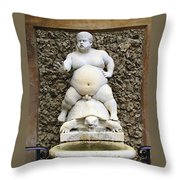 Bacchus Fountain Throw Pillow