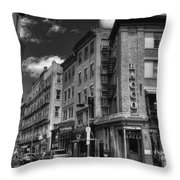 Bacco In Black And White Throw Pillow