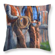 Back At The Ranch Throw Pillow
