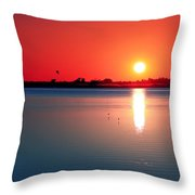 Back Bay Sunset I Throw Pillow