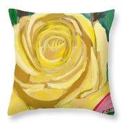Back Bay Yellow Rose Throw Pillow