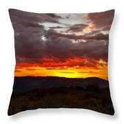 Back Country Sunset Throw Pillow