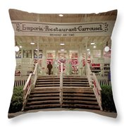 Back Door Of The Edgewater Packing Company Throw Pillow