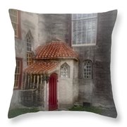 Back Door To The Castle Throw Pillow