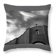 Back Entrance Arch San Xavier Del Bac Mission 1979 Throw Pillow