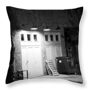 Back Entrance Throw Pillow by Jim Finch