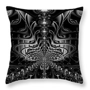 Back In Black Throw Pillow