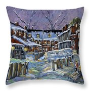 Back Lanes Buddies By Prankearts Throw Pillow