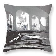 Back North Entrance #1 Of San Xavier Mission Tucson Arizona 1979-2013  Throw Pillow