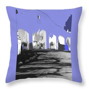 Back North Entrance #2 Of San Xavier Mission Tucson Arizona 1979-2013  Throw Pillow