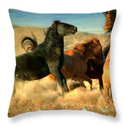 Back Off  Throw Pillow by Jeanne  Bencich-Nations