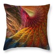 Back On Earth Abstract Art Print Throw Pillow