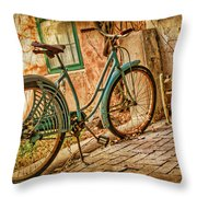 Back Patio Throw Pillow by Nikolyn McDonald