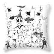 Back Rooms Of My Mind Door 10313 Throw Pillow