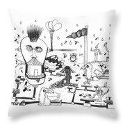 Back Rooms Of My Mind Door #13113 Throw Pillow