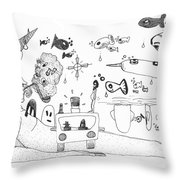 Back Rooms Of My Mind Door 25113 Throw Pillow