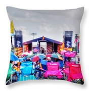 Back Row Seats Throw Pillow