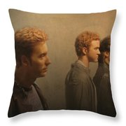 Back Stage With Nsync Throw Pillow