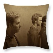 Back Stage With Nsync S Throw Pillow