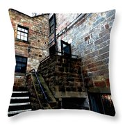 Back Stairs Cool Throw Pillow