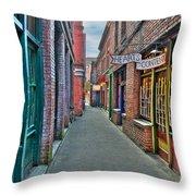 Back Street Love Throw Pillow